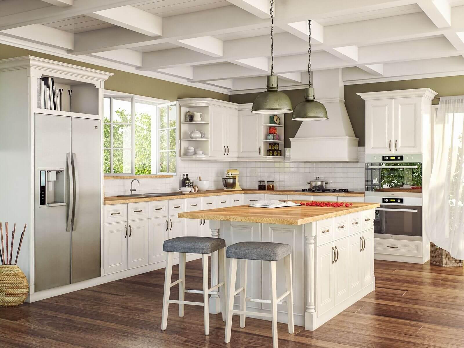 alexandria modern white cabinets