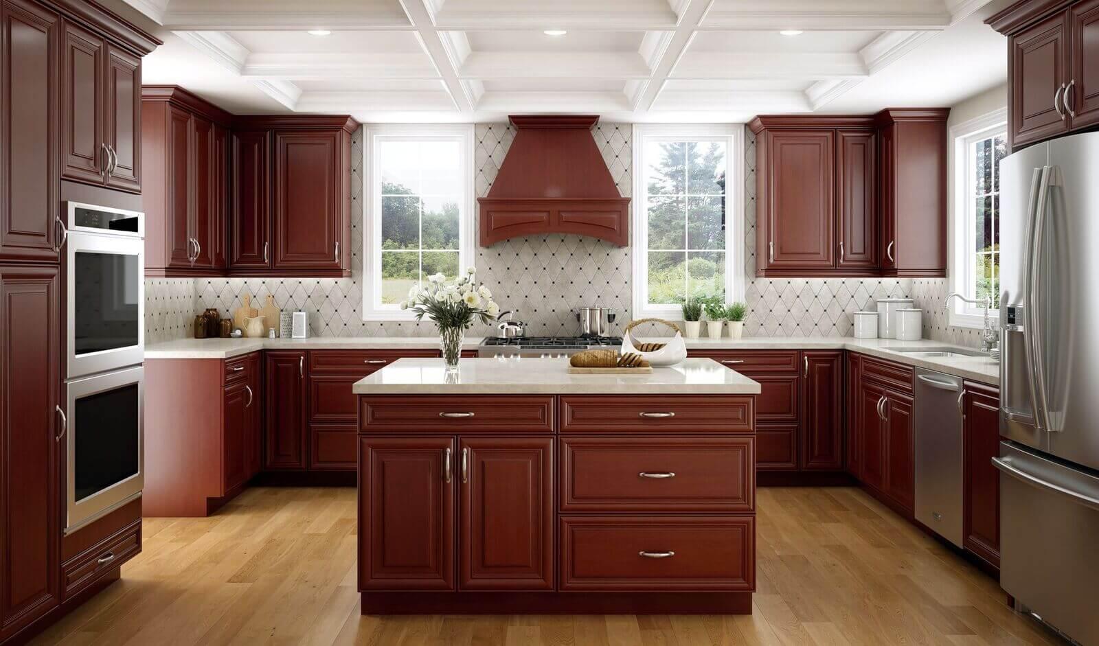 bourdeux brown elegant kitchen custom cabinets