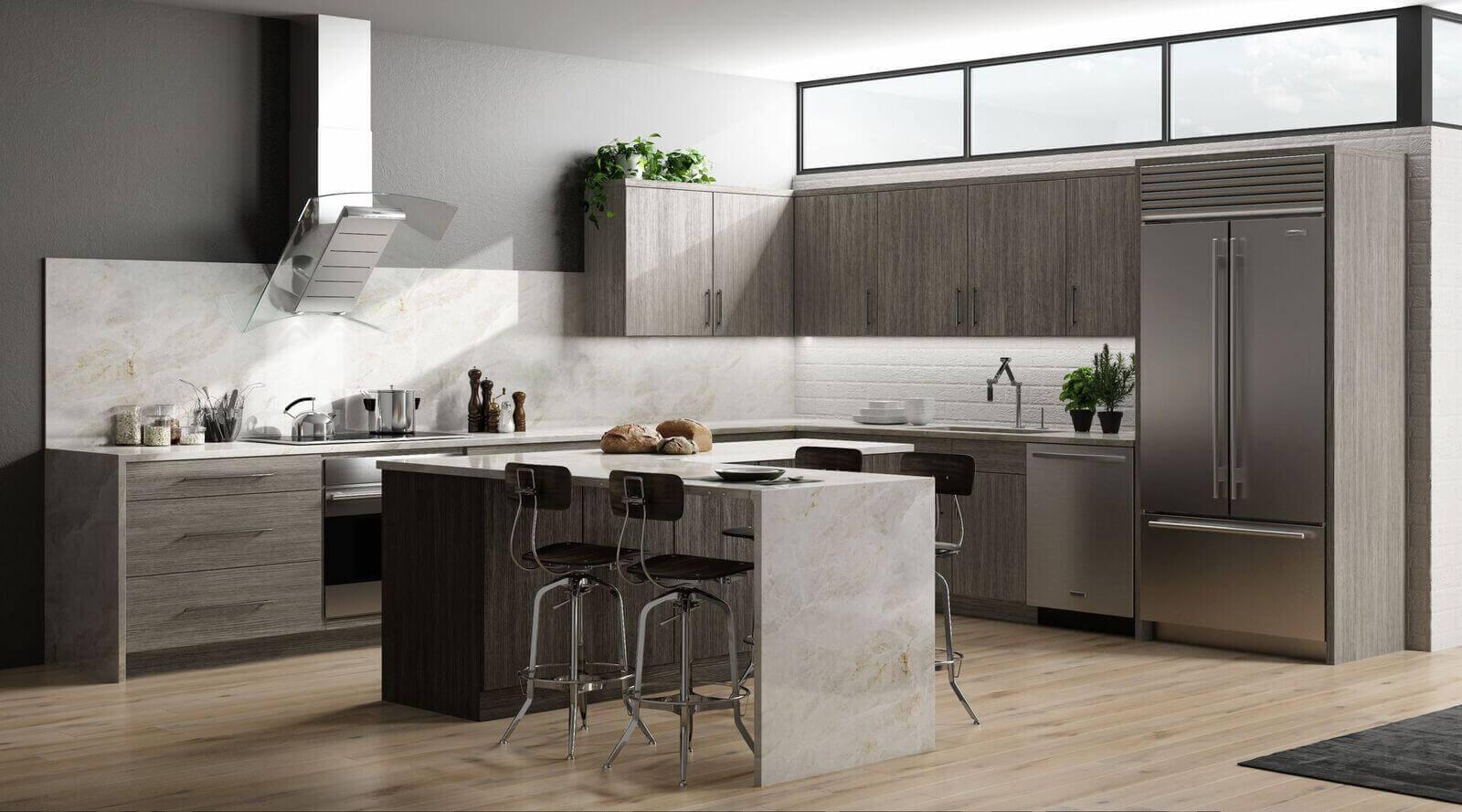 modern matrix grey corner kitchen