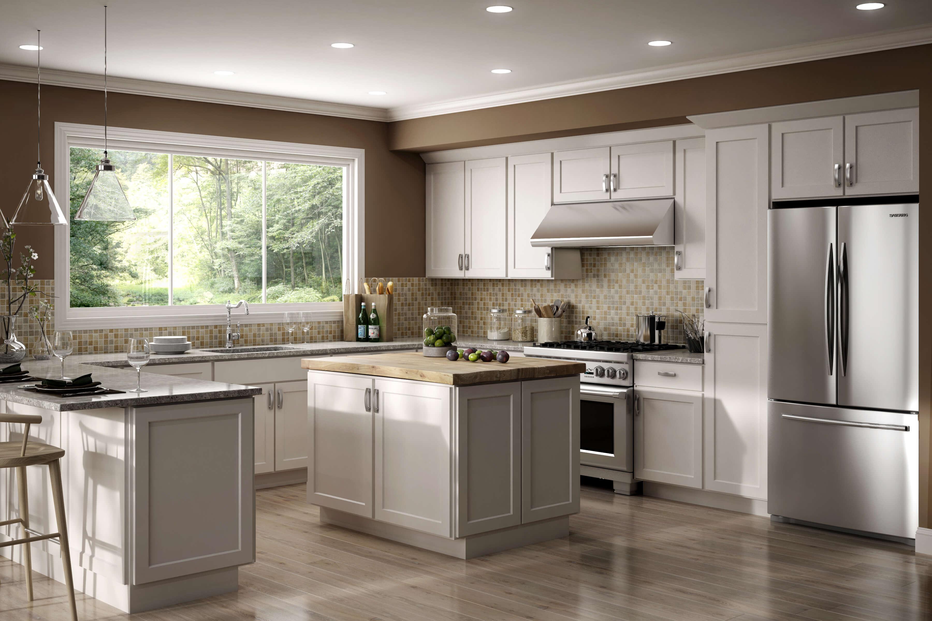 bright luxor white kitchen