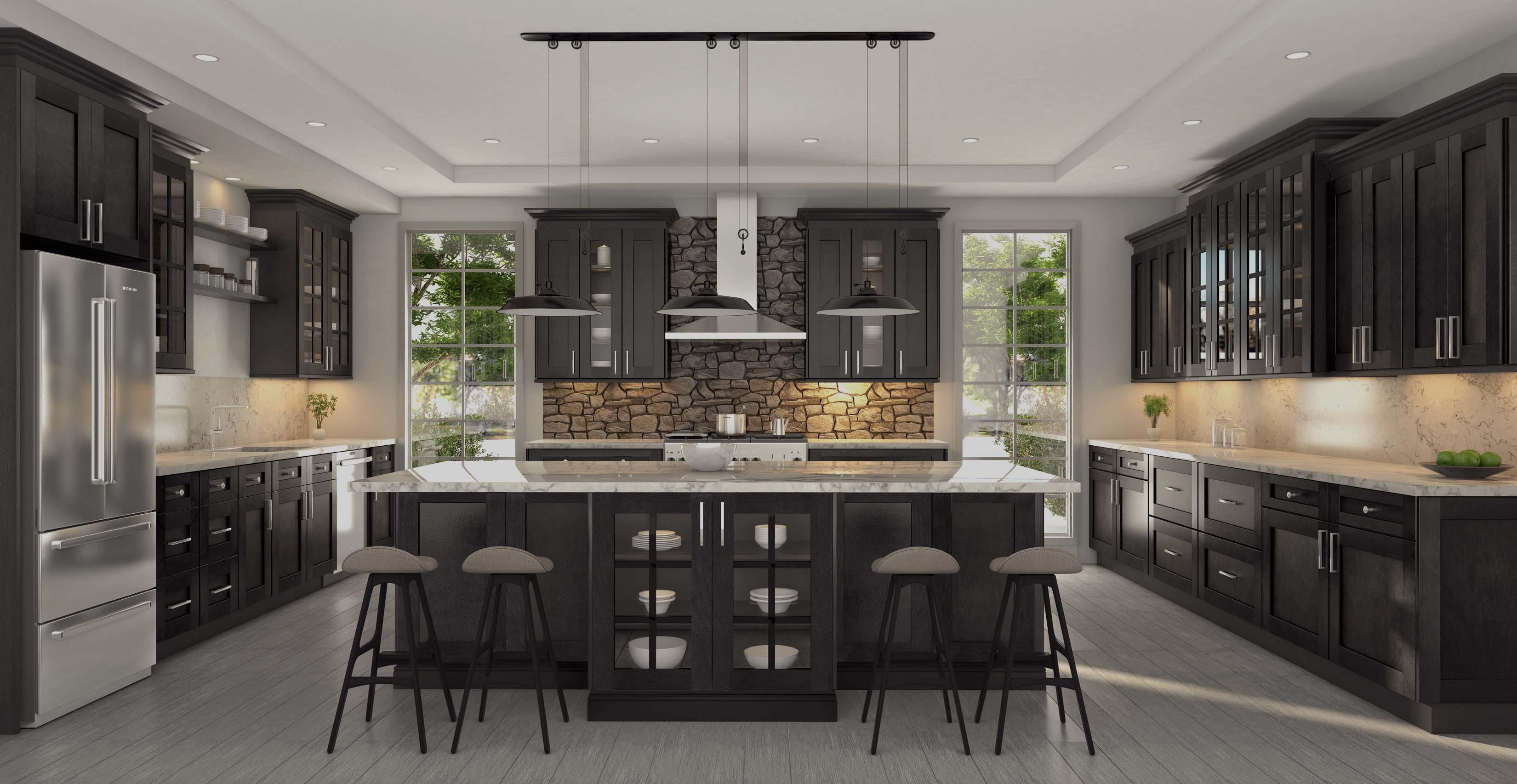 dover kitchen brown kitchen cabinets